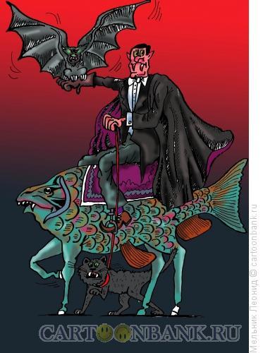 Карикатура: Дракула, Мельник Леонид