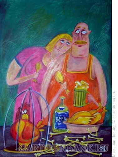 Карикатура: Ужас, Мельник Леонид