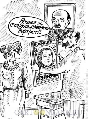 Карикатура: Новый идол, Мельник Леонид