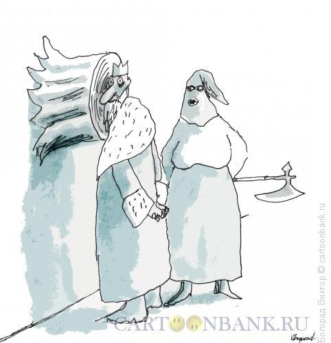Карикатура: Домашняя вертикальная плаха, Богорад Виктор