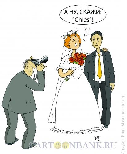 Карикатура: Жених и невеста, Анчуков Иван