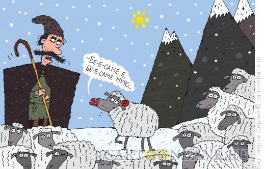 Карикатура: Овечка, Белозёров Сергей
