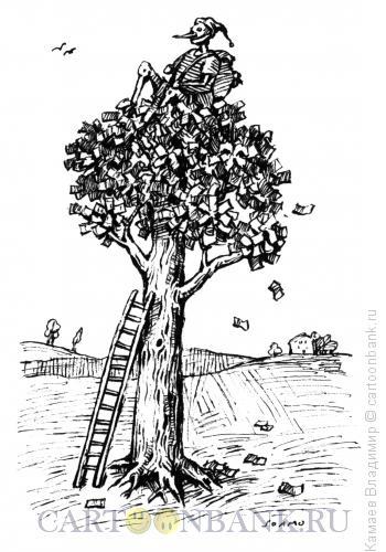 Карикатура: Денежное дерево, Камаев Владимир