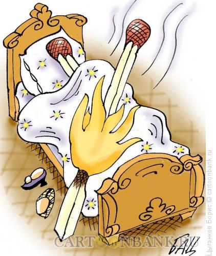 Карикатура: Любовники, Цыганков Борис