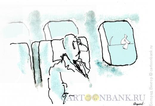 Карикатура: Попутчица, Богорад Виктор