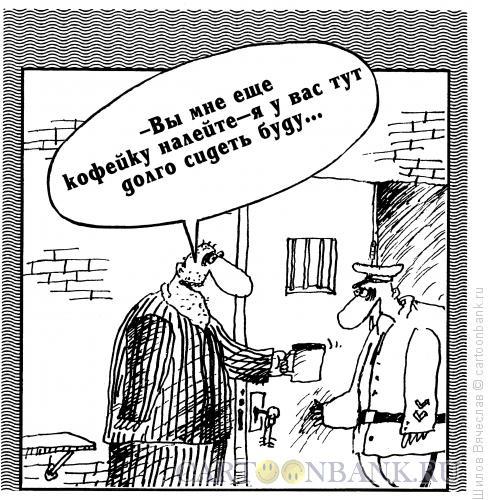 Карикатура: Шутник в камере, Шилов Вячеслав