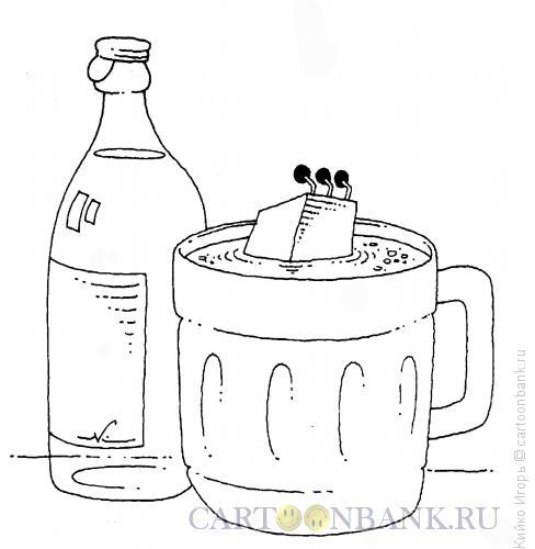 Карикатура: Выпивка и болтовня, Кийко Игорь
