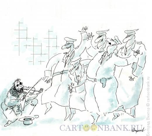 Карикатура: Веселье в переходе, Богорад Виктор