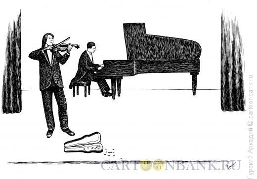 Карикатура: музыканты на сцене, Гурский Аркадий