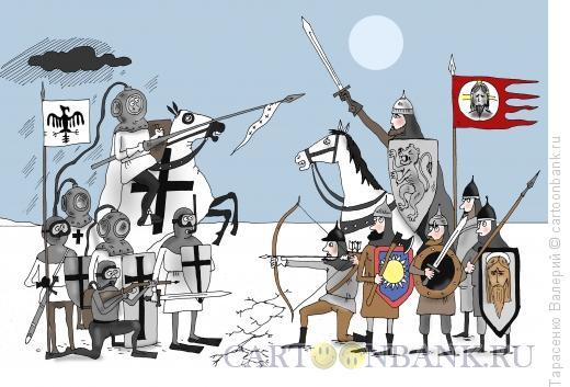 Карикатура: Побоище, Тарасенко Валерий