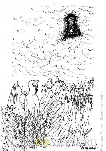 Карикатура: Небесное любопытство, Богорад Виктор