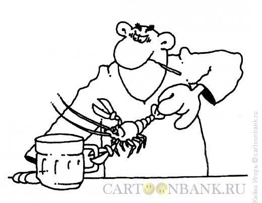 Карикатура: Гороскоп - знак Зодиака Рак, Кийко Игорь