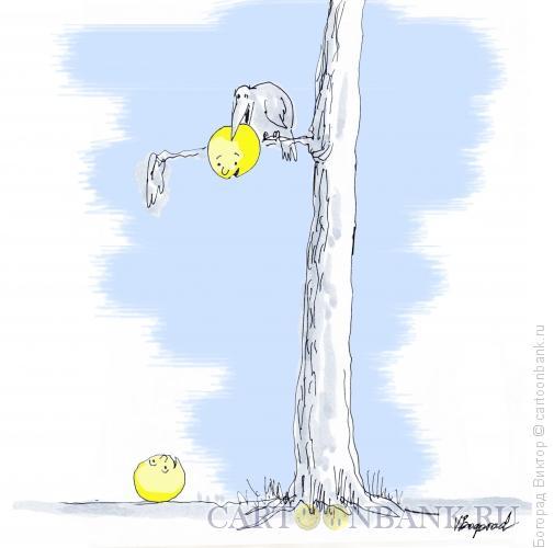 Карикатура: Басня с колобками, Богорад Виктор