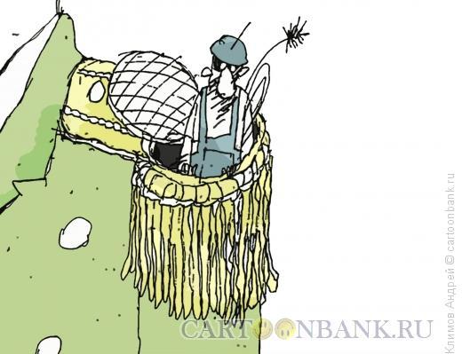Карикатура: Чистильщик, Климов Андрей