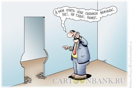 Карикатура: Вкачала силикон, Кийко Игорь
