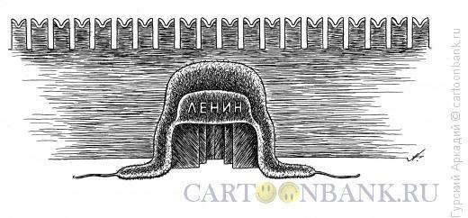 Карикатура: шапка-мавзолей, Гурский Аркадий