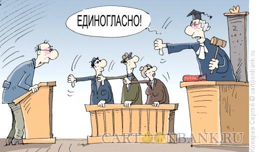 Карикатура: единогласно, Кокарев Сергей