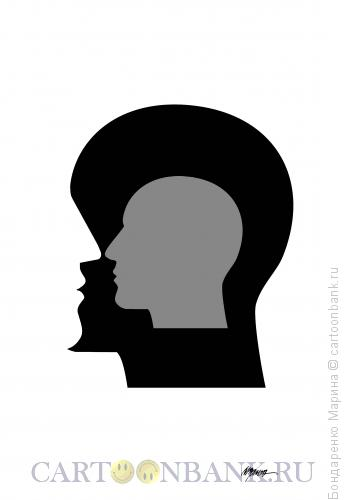 Карикатура: Голова и Профиль, Бондаренко Марина