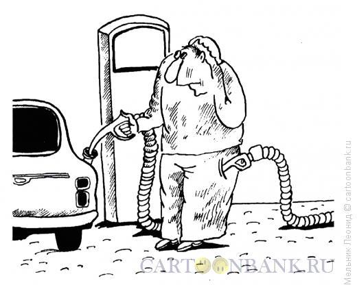 Карикатура: Выкачивание, Мельник Леонид