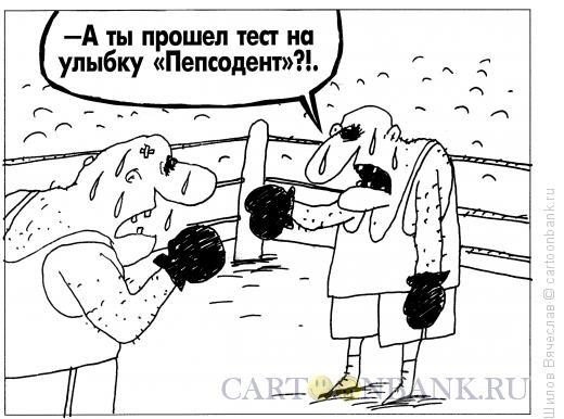 Карикатура: Боксеры и тест, Шилов Вячеслав