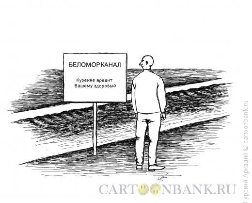 Карикатура: канал с водой, Гурский Аркадий