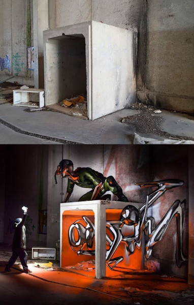 Мем: Серхио Одейт, граффити-художник., Гексоген