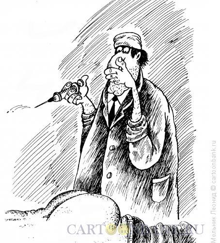 Карикатура: Тяжелая работа, Мельник Леонид