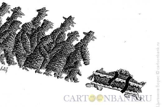 Карикатура: гроб, Цыганков Борис