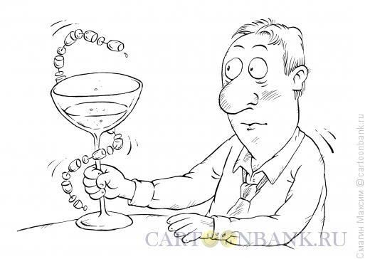 Карикатура: Алкоголь и медицина, Смагин Максим