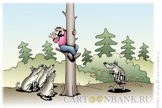Карикатура: Волки и жертва, Кийко Игорь