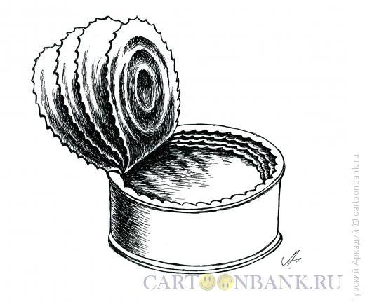 Карикатура: консервная банка, Гурский Аркадий