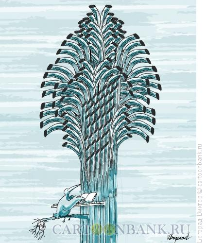 Карикатура: Лесной органист, Богорад Виктор