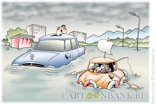 Карикатура: Дороги-реки, Кийко Игорь