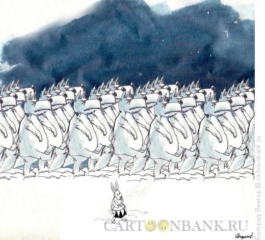 Карикатура: Песня о юном барабанщике, Богорад Виктор