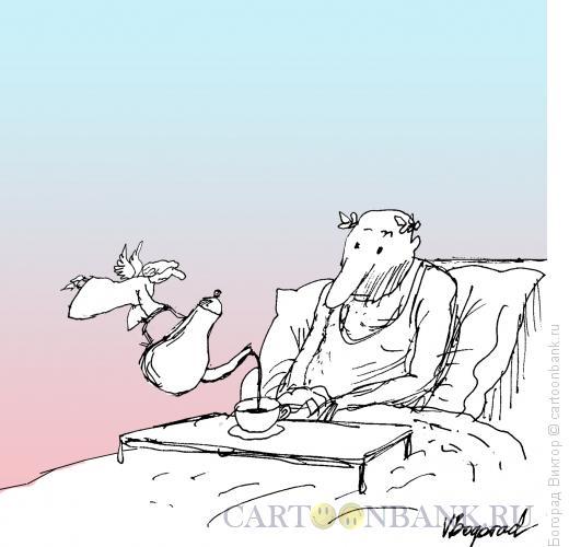 Карикатура: Классик и муза, Богорад Виктор