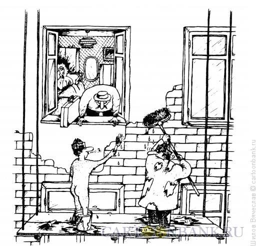 Карикатура: Фальшивый маляр, Шилов Вячеслав