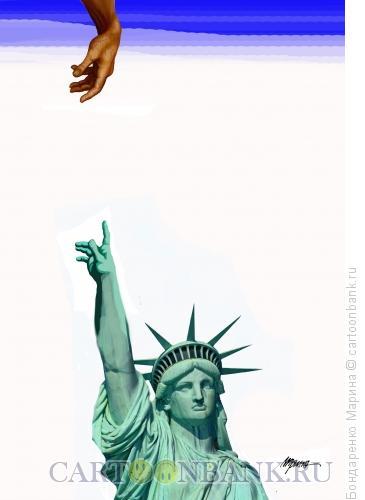 Карикатура: Америка 11 сентября, Бондаренко Марина