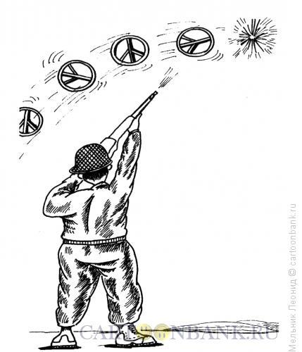 Карикатура: Тарелочки, Мельник Леонид
