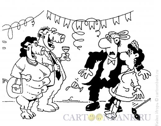Карикатура: На маскараде, Кийко Игорь