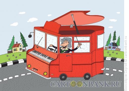 Карикатура: Гастроли, Белозёров Сергей