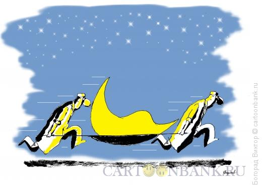 Карикатура: Беременный месяц, Богорад Виктор