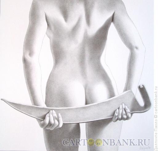 Карикатура: Женщина с косой, Далпонте Паоло