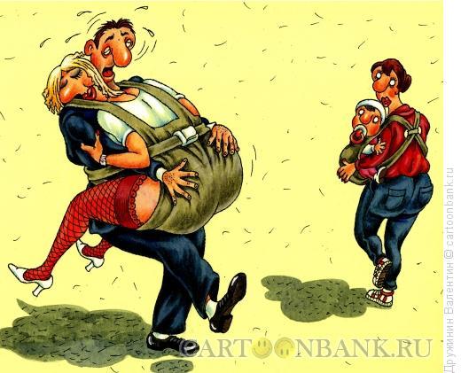 Карикатура: Опека, Дружинин Валентин