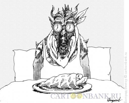 Карикатура: Демон трудовой дисциплины!, Богорад Виктор
