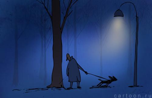 Карикатура: Он не лает, не кусается..., Александр Зудин