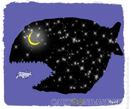 Карикатура: Ночная охота, Богорад Виктор
