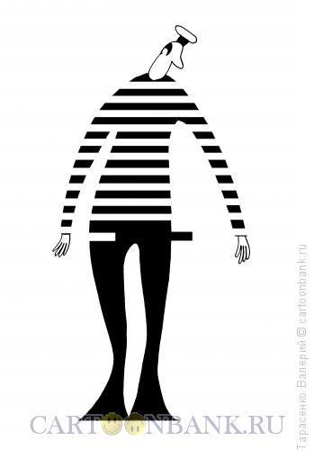 Карикатура: Матрос в развалочку, Тарасенко Валерий