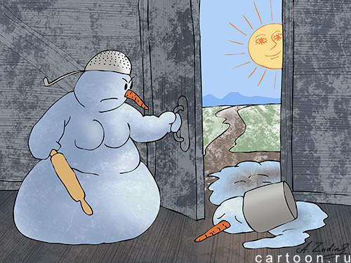 Карикатура: У леса на опушке..., Александр Зудин
