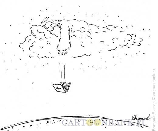 Карикатура: Заснувший бог, Богорад Виктор