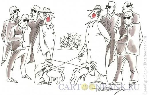 Карикатура: двое крутых, Эренбург Борис